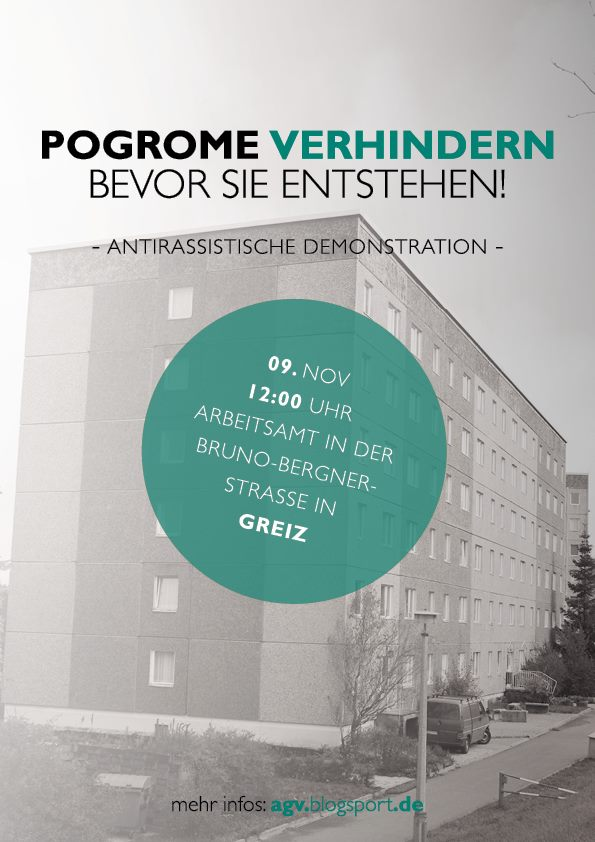 Demo am 9.11. in Greiz -